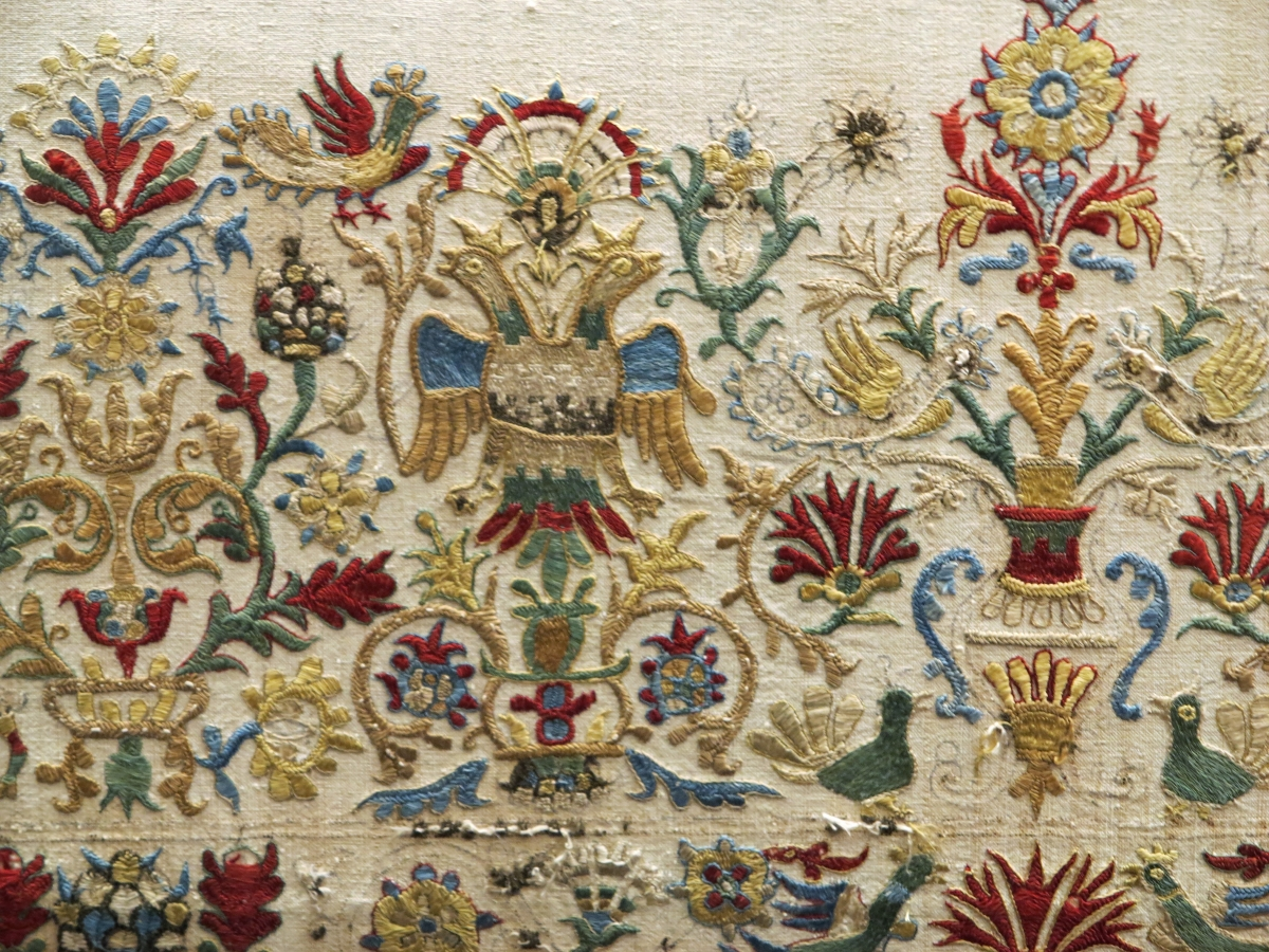 Cretan embroidery (detail), 17th century, Benaki Museu