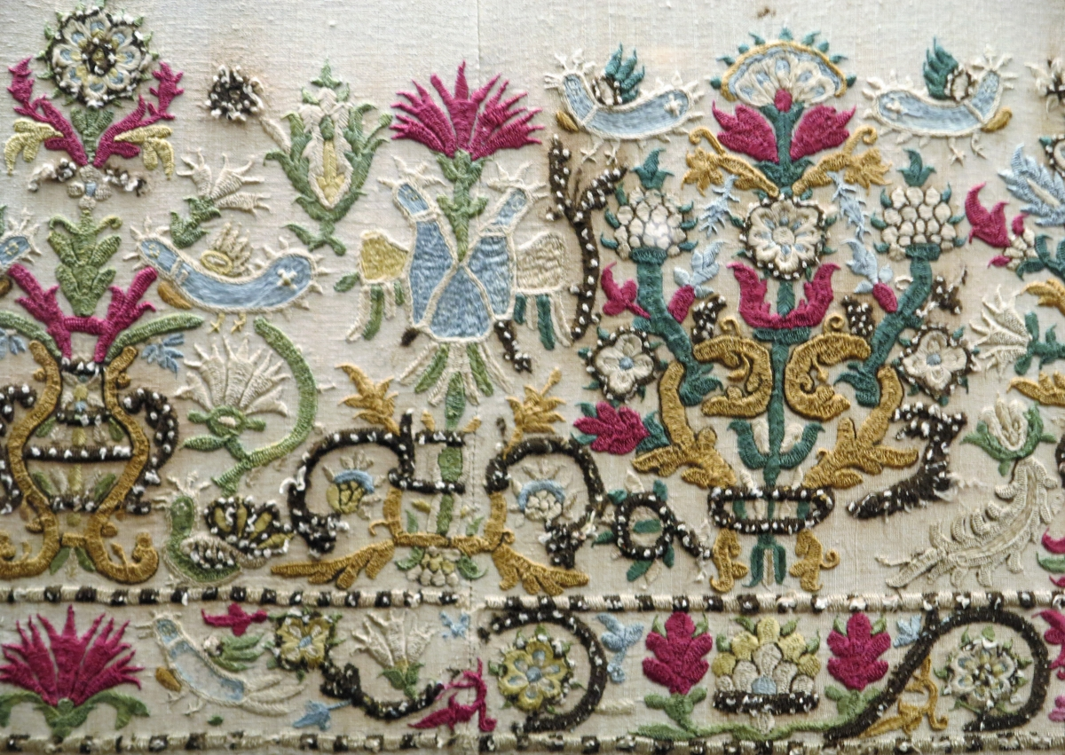 Cretan embroidery (detail), 18th century, Benaki Museu