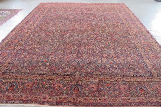 "East Persian Carpet, Khorassan or Kerman 4.05m x 3.08m (13' 3"" x 10'1""). I like this carpet a lot. It was in my dusty corner for ages, but I have just cleaned  ..."
