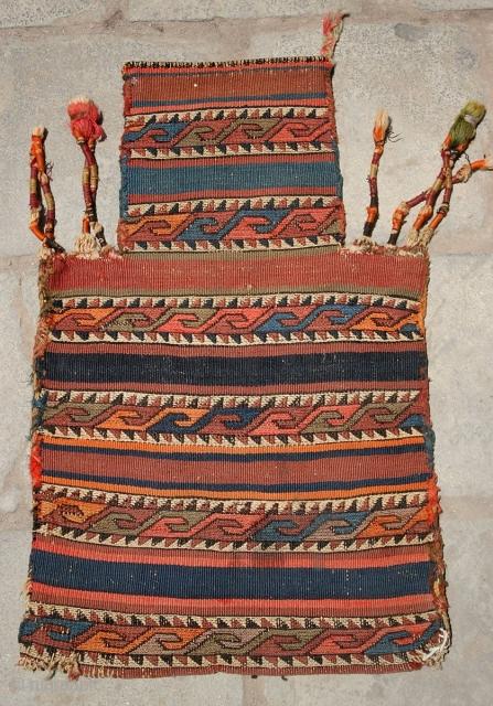 Old Saltbag Shahsavan,soozani, size:60x37 cm, all wool.