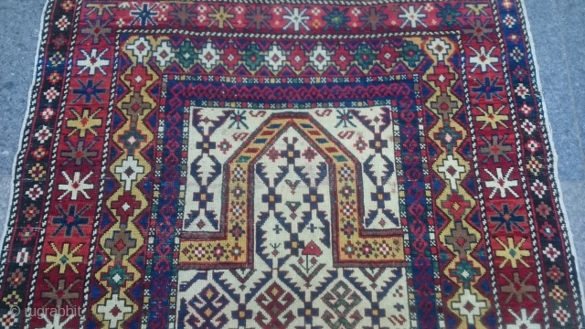 Antique Caucasıan Shirvan Marashali Carpet Size 140x100