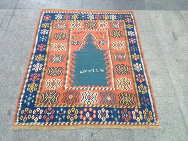 Anatolian Erzurum prayer Kilim Size 145x112