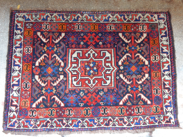 Antique Qashqaii Bag Face 
