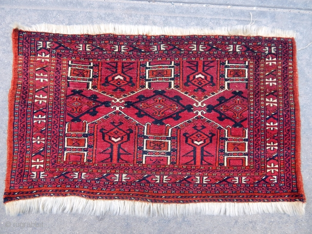 Antique Turkmen Sarıyk Bagface