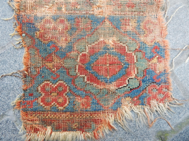Antique West Anatolian Ushak Rug Fragment
