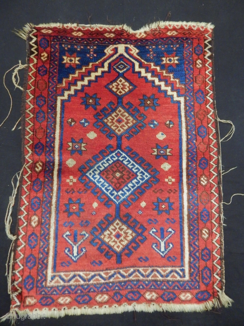 Antique East Anatolian Savak Prayer Rug
