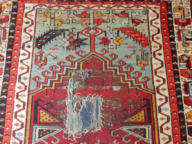 Antique Konya Ladik Prayer Rug