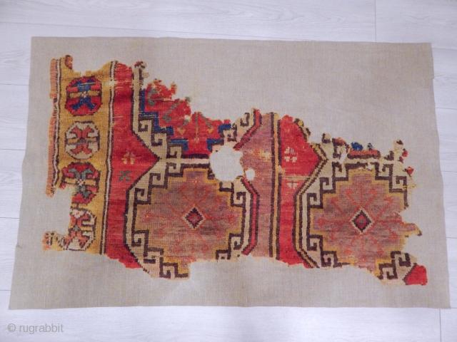 Cappadocia Carpet Fragment  size.65x105cm