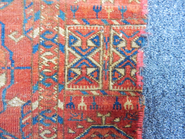 Antique Turkmen Tekke Main Carpet size.size.225x180cm