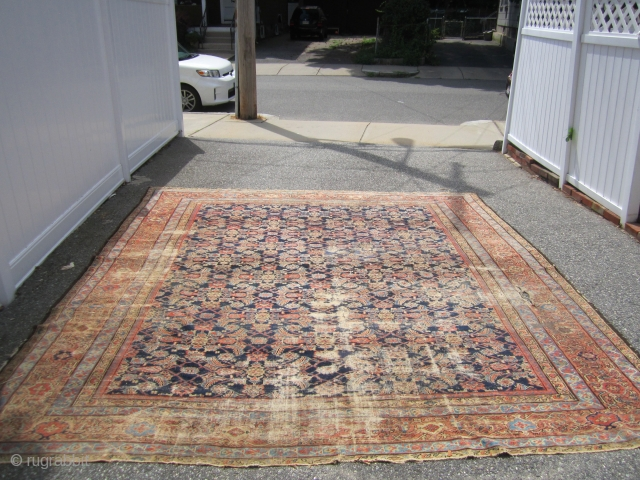 worn antique mahal rug  10' x 11' can send more pictures 489.00 plus shipping.SOLD THANKS