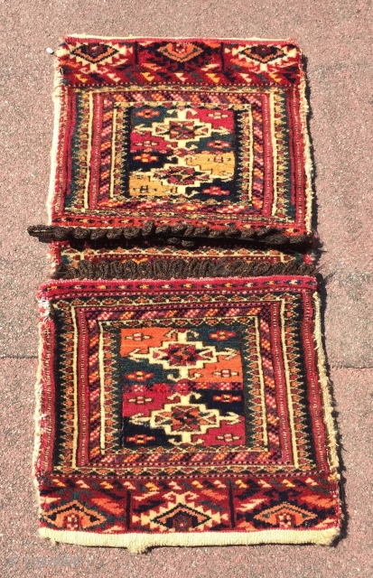 Turkmen-Yomud Antique Saddle-bag Size : 53 cm x 26 cm Thank you for visiting my rugrabbit store !