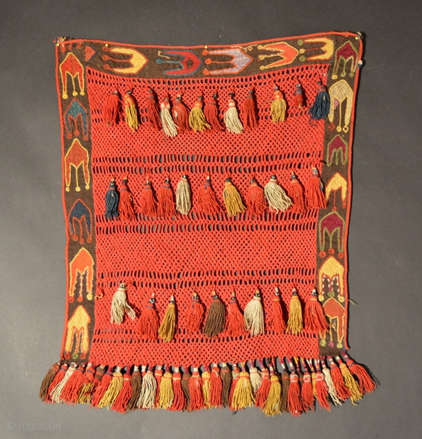 Uzbek (Probably Kungrat) Veil, Early 20th Century, Wool, 24 x 21 inches