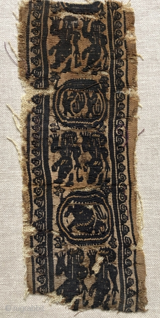 Coptic textile fragment ca 5-6 c. Size 25 x 10 cm Fresh from a collection formed in London in the 70/80 s