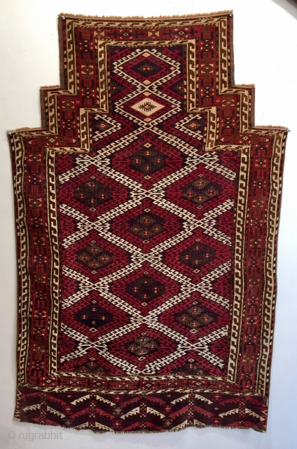 Rare antique chodor rug pre 1880 possibly a Namazlyk (prayer rug)