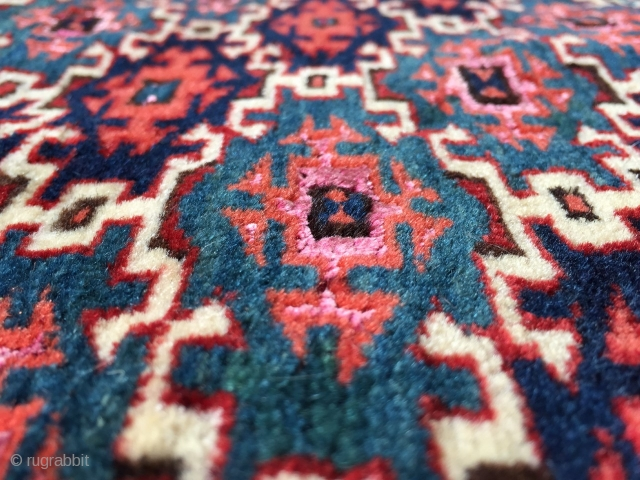 Turkmen aksu design with silk.  See it at Arts, October 27-29 in San Francisco. http://artsrugshow.net/