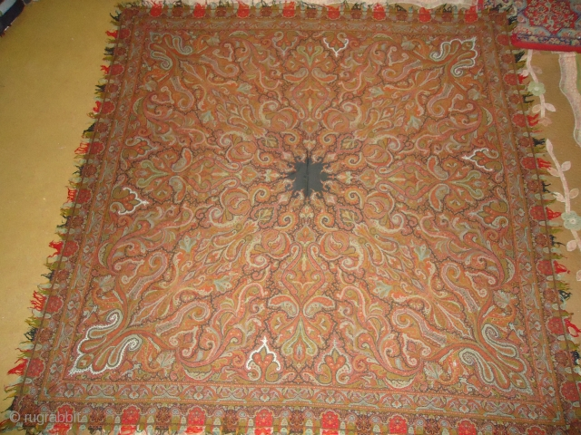Paisely scarf excellent condition Size 5feet5inch by 5feet5inch.