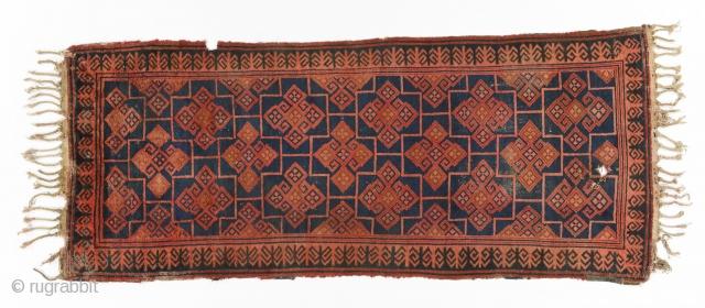 Kyrgyz giliam (main carpet), Central Asia, Ferghana valley, late 19th century, 320 x 140cm