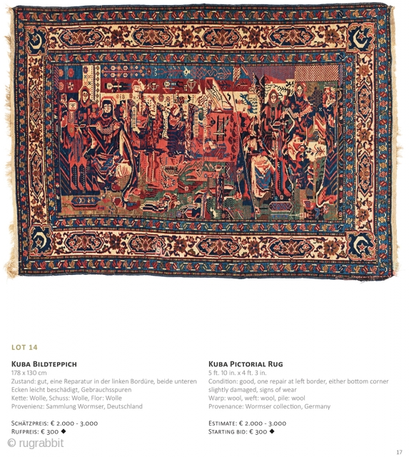 Auction on March 30th at 4pm, all on offer with no reserve! https://www.liveauctioneers.com/item/69912730_kuba-pictorial-rug