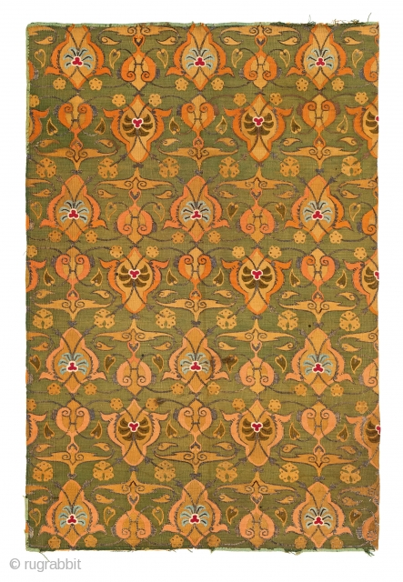 Portuguese textile, Portugal, 18th century, 4ft. 10in. x 3ft. 3in., Starting bid € 800, Auction May 18th at 4pm, https://www.liveauctioneers.com/item/71359992_portuguese-textile