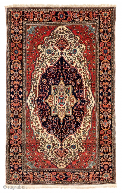 Kashan, Persia, ca. 1880, 6ft. 8 in. x 4ft. 2 in., Starting bid € 800, Auction May 18th at 4pm, https://www.liveauctioneers.com/item/71360006_kashan
