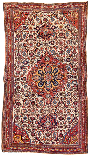 Qashqai, 290 x 160 cm (9ft. 6in. x 5ft. 3in.), Persia, mid 19th century, Warp: wool, weft: silk, pile: wool, Provenance: Siawosch Azadi, Staring bid € 2000, Auction May 18th at 4pm,  ...