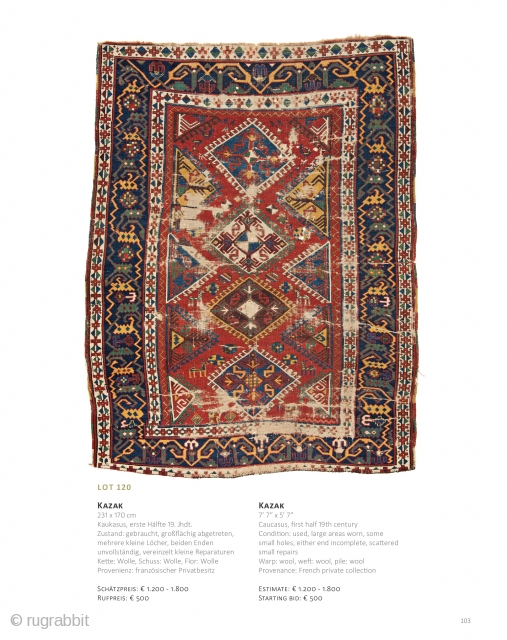Auction on June 22 at 4pm, https://catalog.austriaauction.com/en/112-fine-antique-oriental-rugs-xvi?id_category=112&n=172