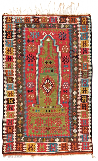Lot 105, East Anatolian prayer kilim, starting bid € 1300, Auction October 14 5pm,https://www.liveauctioneers.com/catalog/109605_fine-antique-oriental-rugs-viii/?count=all