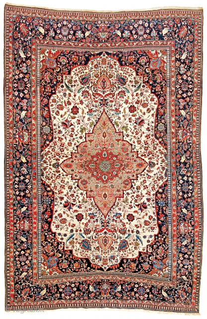 Lot 192, Kashan Mohtashem, starting bid € 4000, Auction October 14 5pm, https://www.liveauctioneers.com/catalog/109605_fine-antique-oriental-rugs-viii/?count=all