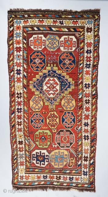 Crazy Kurdish rug with electric colors. In excellent condition. Ask for more info.   Please visit our website for more rare woven art : www.bbolour.com