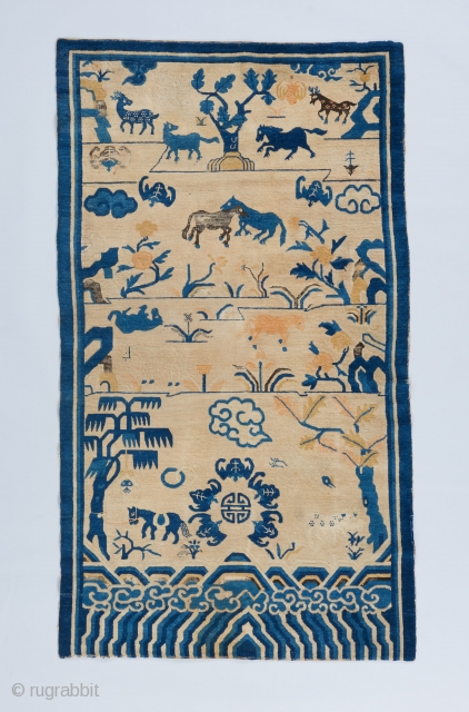 "Chinese rug. 6'9"" x 3'10"". 