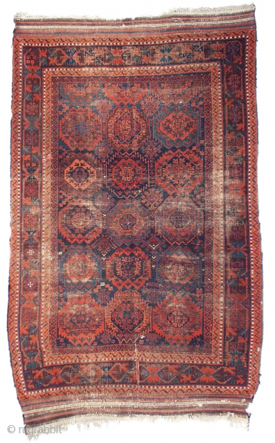 "Baluch Main Carpet, published in ""The Great and the Small: Baluch Carpets in Context"". An older example from western Afghanistan with both small cotton and silk highlghts"