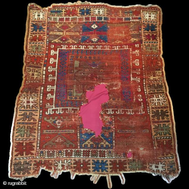 Anatolian rug with mystery medallion.