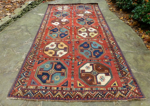 Large Antique Uzbek Main Rug. Superb Uzbek carpet in very good condition, complete, with good pile throughout. Dimensions: 133 x 64 inches See more textiles at www.banjaratextiles.com