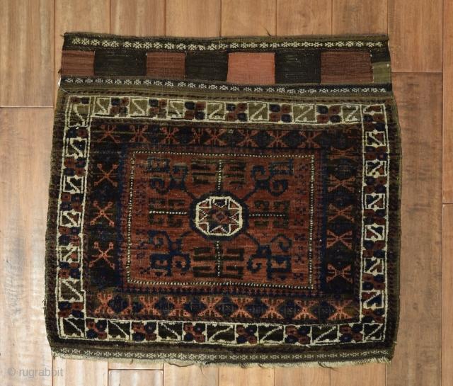 """Antique Baluch bagface 2'5"""" x 2'8"""""""