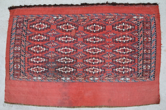 Jomud Tschowal Sumak, wool on wool, very good condition, size: 1,02 x 0,68 m