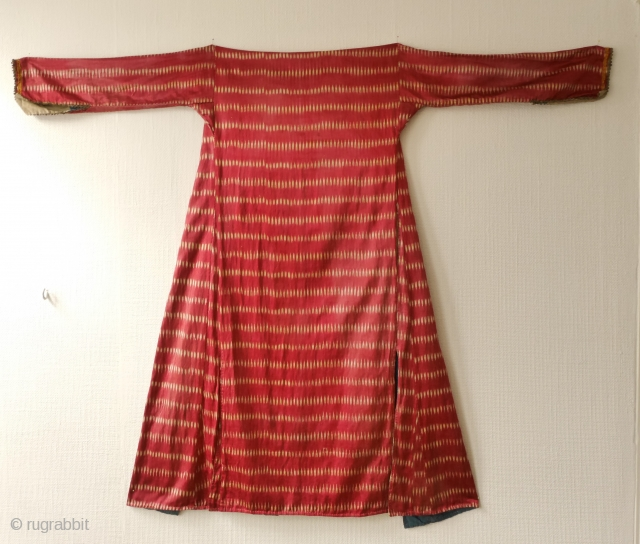 Ottoman silk ikat coat for women, Aleppo ikat