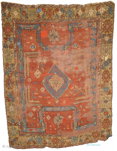 Anatolian Bergama Area Bellini Type Rug Great Scale Soft