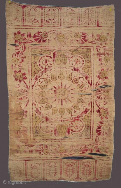17th/early 18th c. Ottoman Turkish velvet yastik (with many condition issues)