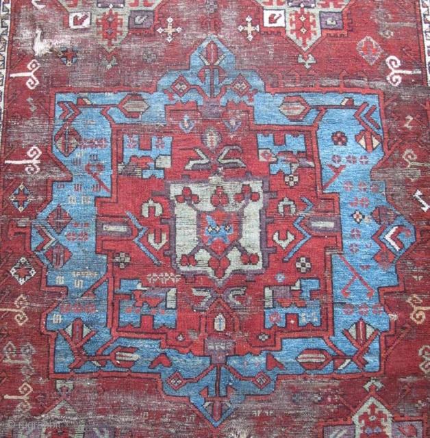 Central Anatolian Karaman Medallion carpet incorporating many Northwest Persian Safavid models.