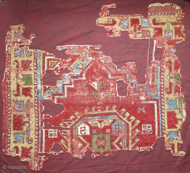 18th century Anatolian fragment, Aksaray? Mihaliç? nice and colorful, mounted and conserved.