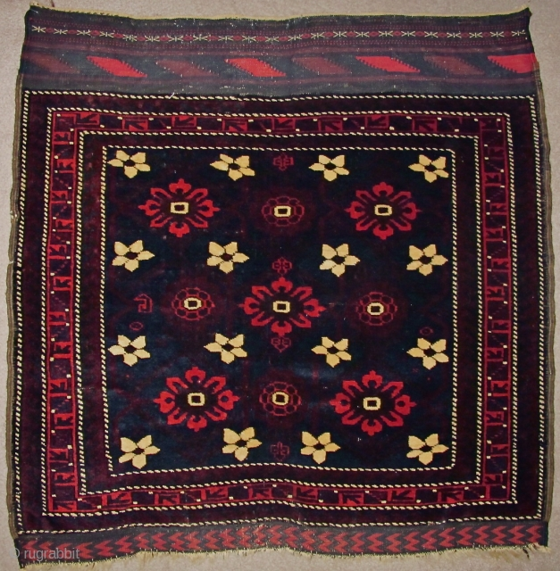 Baluch Minakhani Bagface, just about perfect condition.
