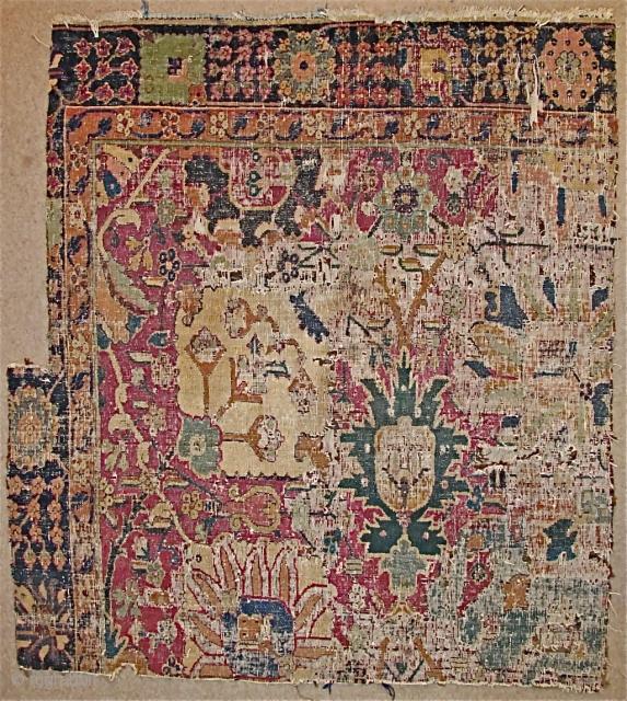 Kerman Vase Carpet Fragment