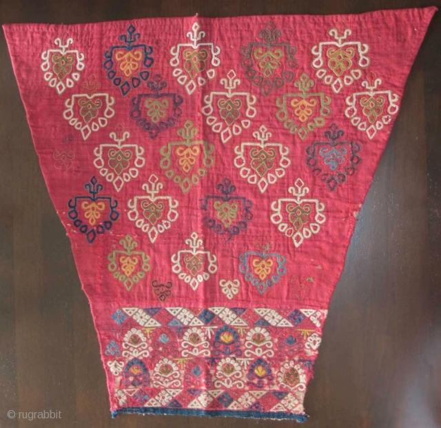Chodor Turkmen embroidered silk sleeve