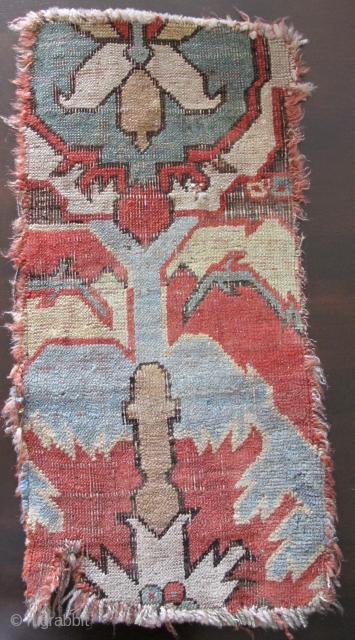 "Caucasian Blossom Carpet Fragment circa 1700 (2' x 1'1"")"