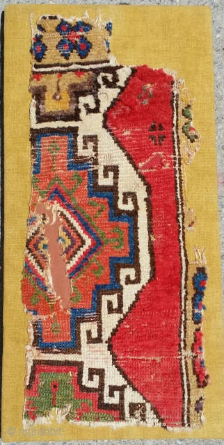 "Konya fragment, Excellent Color. Fragment= 12""×29"" mount= 15""×31"""