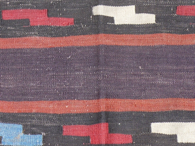 "19"" x 33.5"", 49 x 85 cm, Shasavan kilim fragment, 19th c., small but beautiful. Stolen"