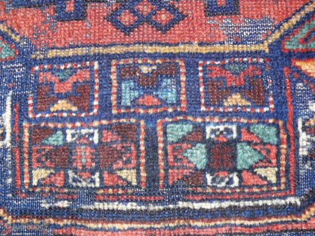Kurdish rugfragment with a Holbein star, great colors