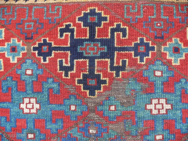 Eastanatolian Kurdish rug fragment, 19th c., 120 x 120 cm, 4' x 4'