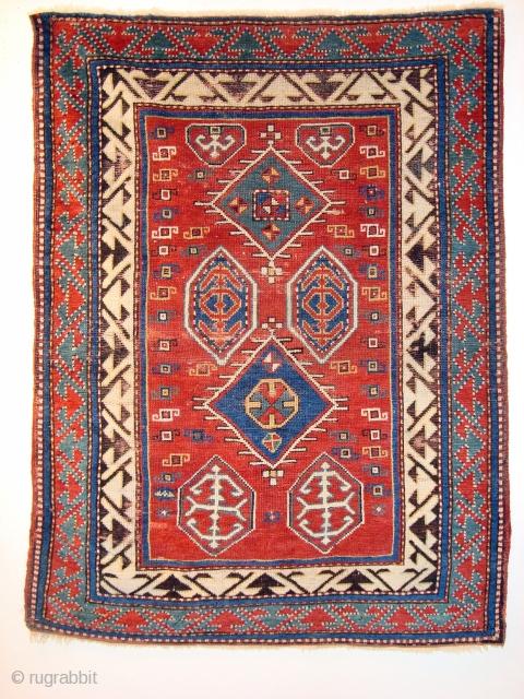 Bordjalou Kasak,1,34x0.98m, natural colours,Good condition,browen corrodid,made about 2nd half 19.send.