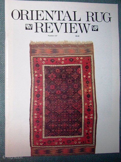 ORIENTAL RUG REVIEW volumes 8 through 15 covering more than 8 continuous years from October 1987 to January 1996. Vols 8,10 & 11 Bound with George O'Bannon's name embossed on cover.   ...